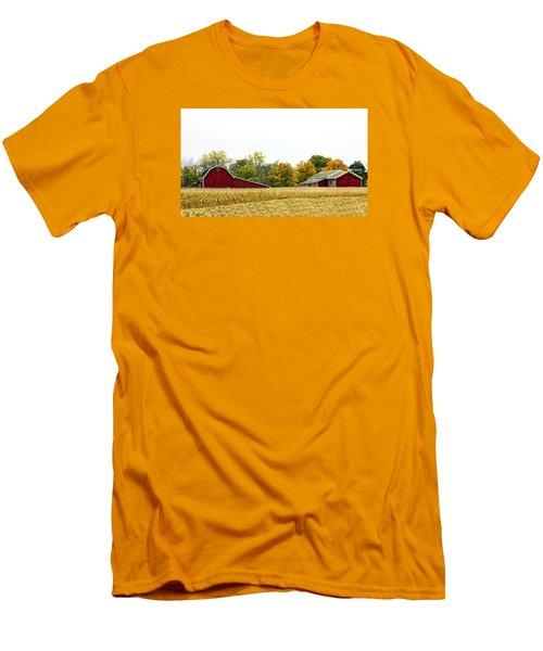 Autumn Barns Men's T-Shirt (Slim Fit) by Pat Cook