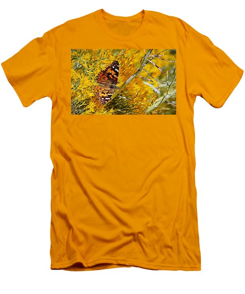Men's T-Shirt (Athletic Fit) featuring the photograph Autumn Butterfly by AJ Schibig