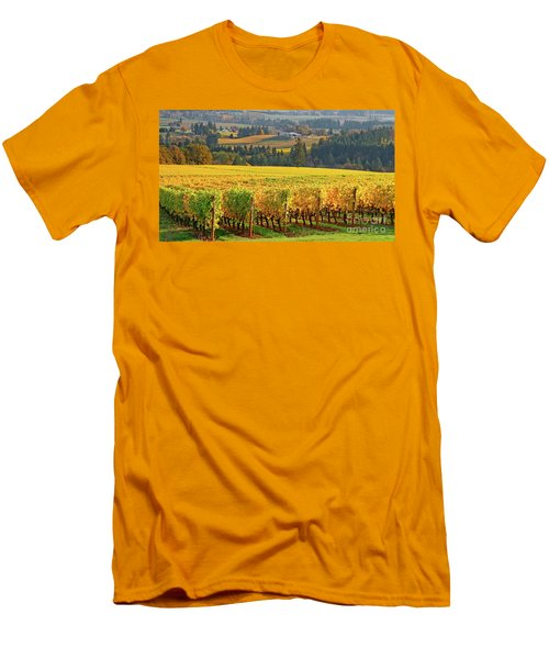 Autumn In Oregon Wine Country Men's T-Shirt (Athletic Fit)
