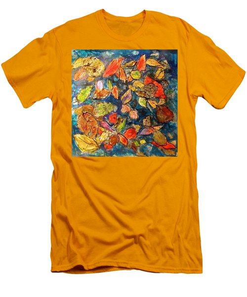 Autumn Leaves Men's T-Shirt (Slim Fit) by Barbara O'Toole