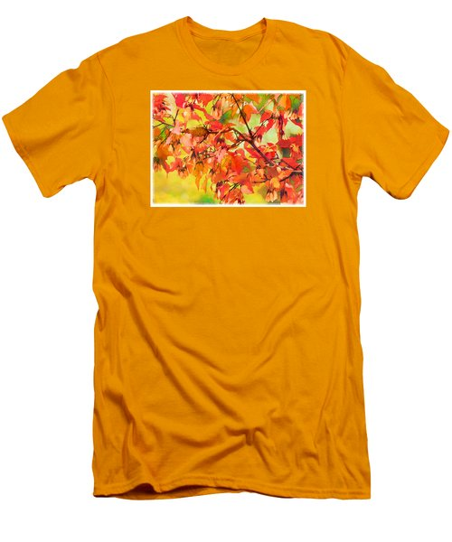 Autumn Leaves Men's T-Shirt (Slim Fit) by Christina Lihani
