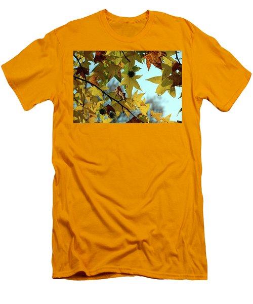 Autumn Leaves Men's T-Shirt (Slim Fit) by Joanne Coyle