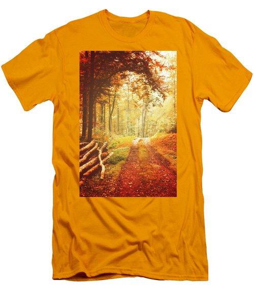 Autumn Lights Men's T-Shirt (Athletic Fit)