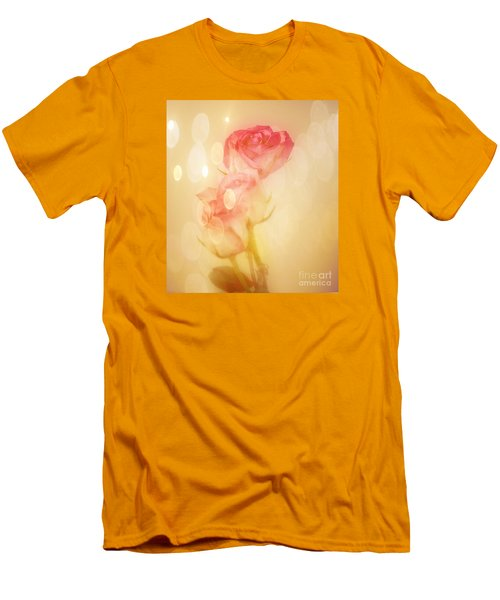 Autumn Roses Men's T-Shirt (Slim Fit) by Shirley Mangini