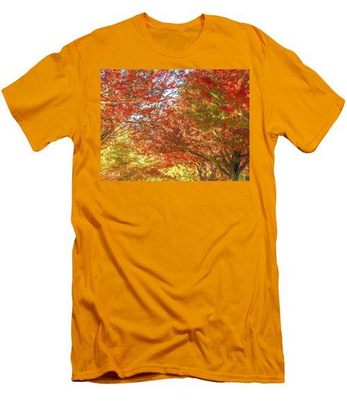 Autumn Trees Digital Watercolor Men's T-Shirt (Athletic Fit)