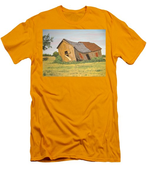 Men's T-Shirt (Slim Fit) featuring the painting Award-winning Original Acrylic Painting - Now I Lay Me Down To Sleep by Norm Starks