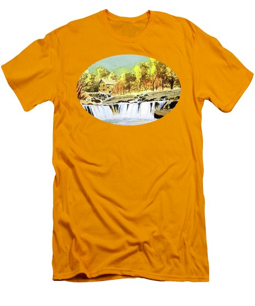 Babcock State Park West Virginia Men's T-Shirt (Slim Fit) by Bill Holkham