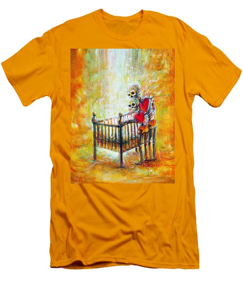 Men's T-Shirt (Slim Fit) featuring the painting Baby Love by Heather Calderon