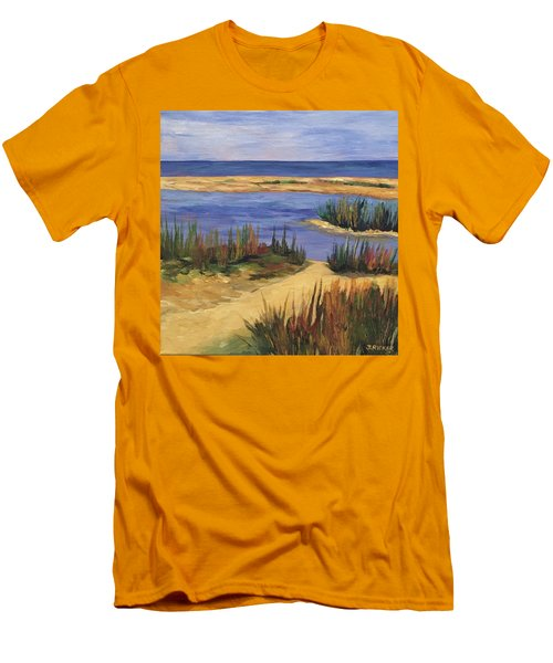 Back Bay Beach Men's T-Shirt (Athletic Fit)