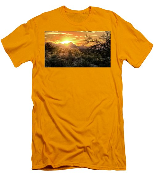 Back Lit Men's T-Shirt (Athletic Fit)