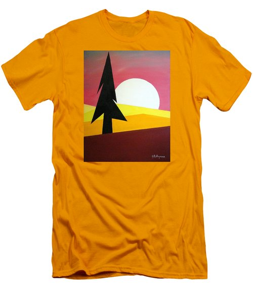 Men's T-Shirt (Slim Fit) featuring the painting Bad Moon Rising by J R Seymour
