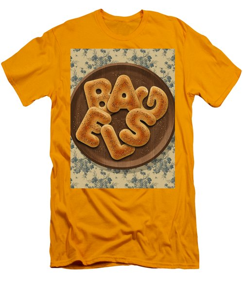 Bagels Men's T-Shirt (Slim Fit) by La Reve Design