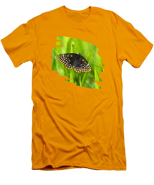 Baltimore Checkerspot Butterfly Men's T-Shirt (Slim Fit) by Christina Rollo