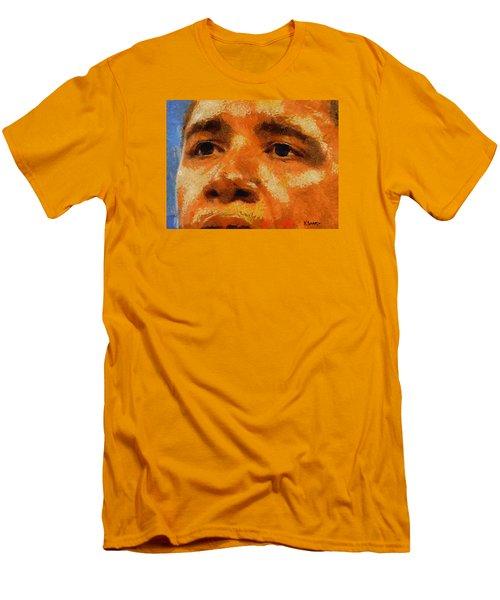 Barack Men's T-Shirt (Slim Fit) by Kai Saarto
