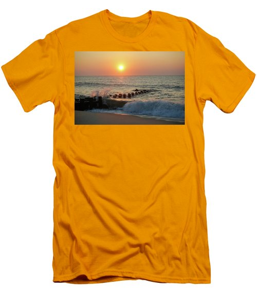 Bay Head Beach Sunrise 1 Men's T-Shirt (Athletic Fit)