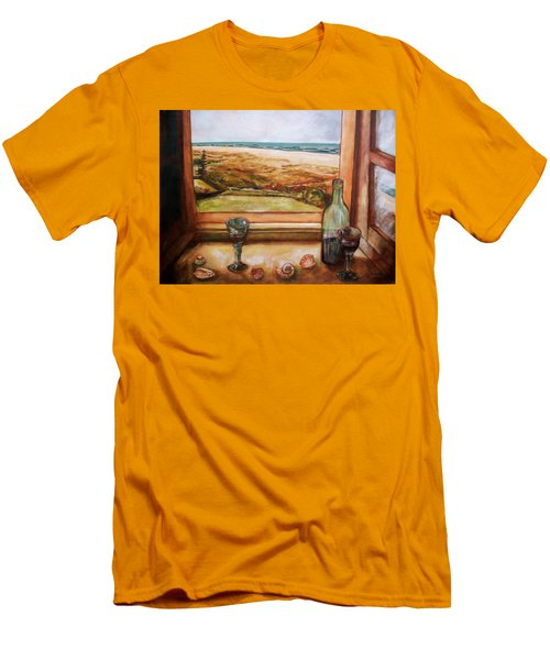 Beach Window Men's T-Shirt (Slim Fit) by Winsome Gunning