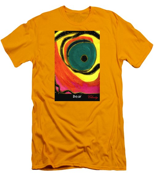 Men's T-Shirt (Slim Fit) featuring the painting Bear by Clarity Artists