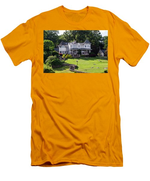 Beautiful Home On Lake Hopatcong Men's T-Shirt (Slim Fit) by Maureen E Ritter