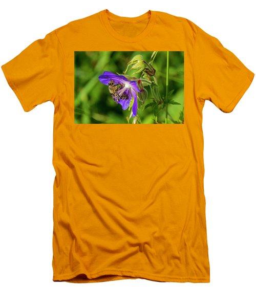 Bee At Work Men's T-Shirt (Slim Fit) by Ulrich Burkhalter