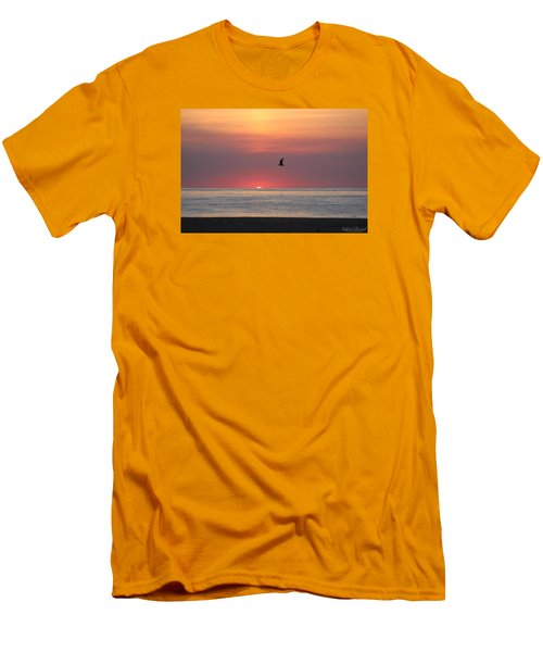 Men's T-Shirt (Slim Fit) featuring the photograph Beginning The Day by Robert Banach