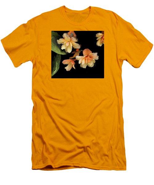 Begonias 2 Men's T-Shirt (Slim Fit) by Janis Nussbaum Senungetuk