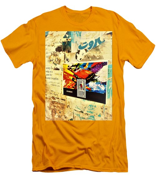 Beirut Wall  Men's T-Shirt (Athletic Fit)