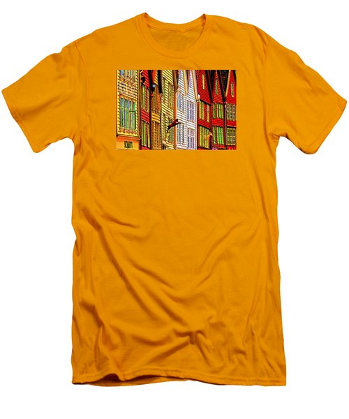 Men's T-Shirt (Slim Fit) featuring the photograph Bergen Warehouses by Dennis Cox WorldViews