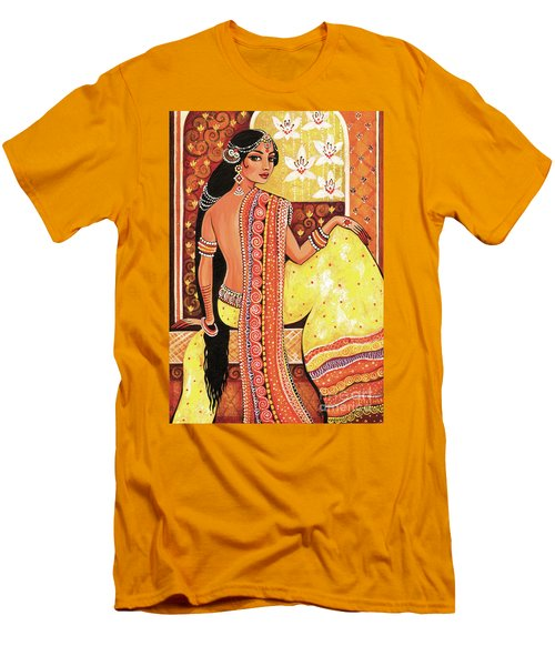 Men's T-Shirt (Athletic Fit) featuring the painting Bharat by Eva Campbell