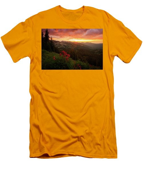 Big Cottonwood Sunset Men's T-Shirt (Athletic Fit)