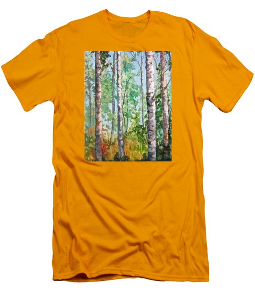 Birch Men's T-Shirt (Slim Fit) by Barbara O'Toole