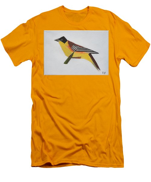 Black-headed Bunting Men's T-Shirt (Slim Fit) by Tamara Savchenko