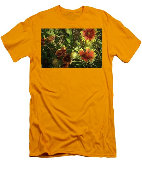 Men's T-Shirt (Slim Fit) featuring the photograph Blanket Flower by Donna G Smith