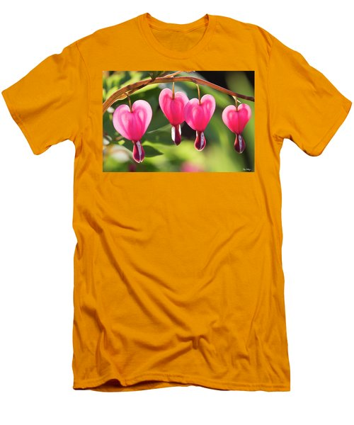 Men's T-Shirt (Slim Fit) featuring the photograph Bleeding Hearts by Skip Tribby