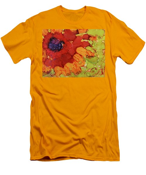 Men's T-Shirt (Slim Fit) featuring the painting Blooming Cactus by Cynthia Powell