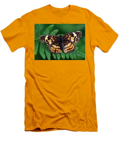 Men's T-Shirt (Slim Fit) featuring the photograph Blue Ridge Butterfly by Kay Lovingood