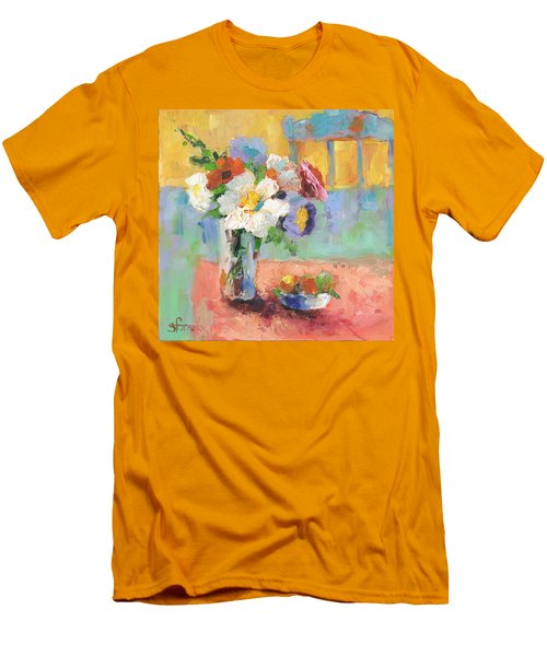Blues Chair Men's T-Shirt (Slim Fit) by Sharon Furner