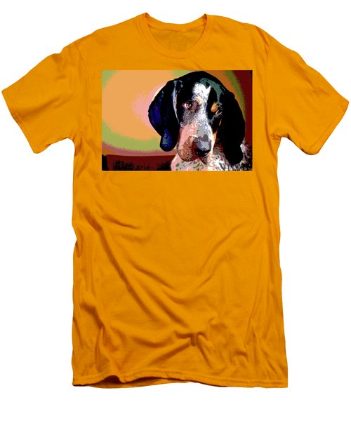 Bluetick Coonhound Men's T-Shirt (Slim Fit) by Charles Shoup