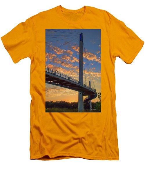 Bob Kerry Bridge At Sunrise Men's T-Shirt (Athletic Fit)