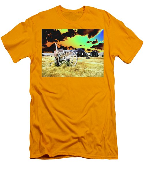 Men's T-Shirt (Slim Fit) featuring the photograph Bodie Wagon by Jim and Emily Bush