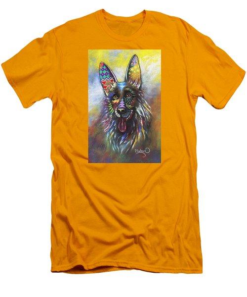 German Shepherd Men's T-Shirt (Slim Fit) by Patricia Lintner