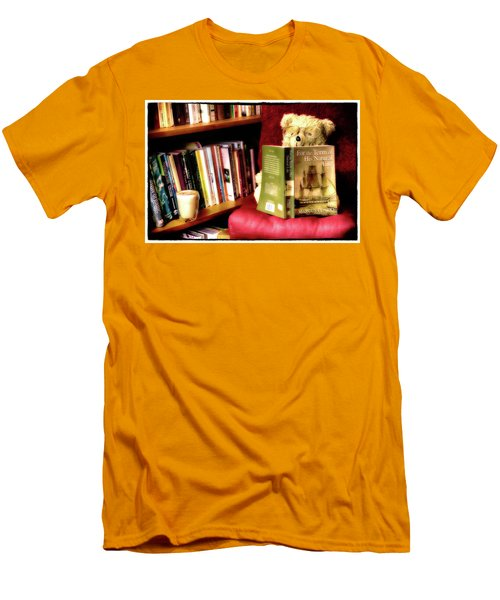 Bookworm Ted Men's T-Shirt (Athletic Fit)