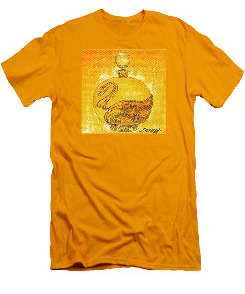 Bottled Gold Swan Men's T-Shirt (Athletic Fit)