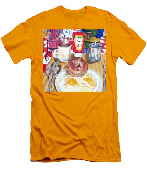 Breakfast At The Deli Men's T-Shirt (Slim Fit) by Lisa Boyd