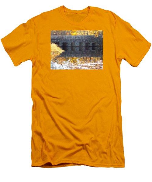 Bridges Reflection Men's T-Shirt (Slim Fit) by Catherine Gagne