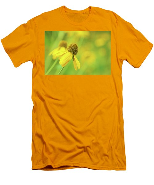 Bright Yellow Flower Men's T-Shirt (Slim Fit) by David Stasiak