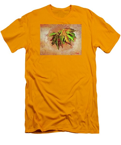 Brilliant Is The Color Of Autumn  Men's T-Shirt (Slim Fit) by Talisa Hartley