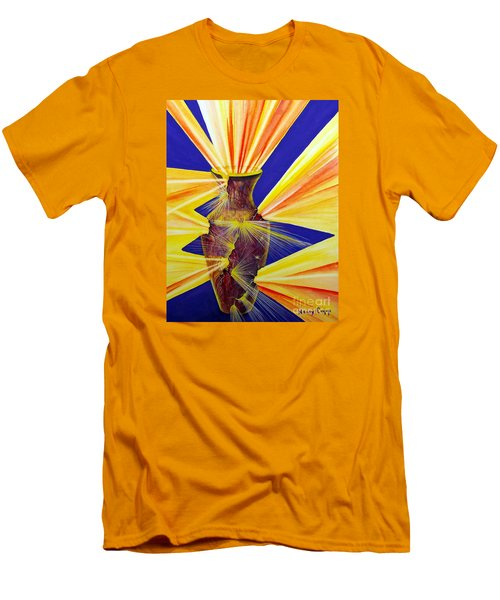 Broken Vessel Men's T-Shirt (Slim Fit) by Nancy Cupp