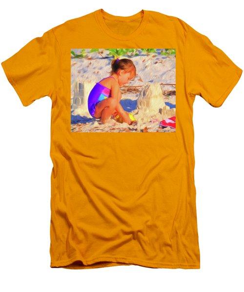 Building Sand Castles Men's T-Shirt (Athletic Fit)