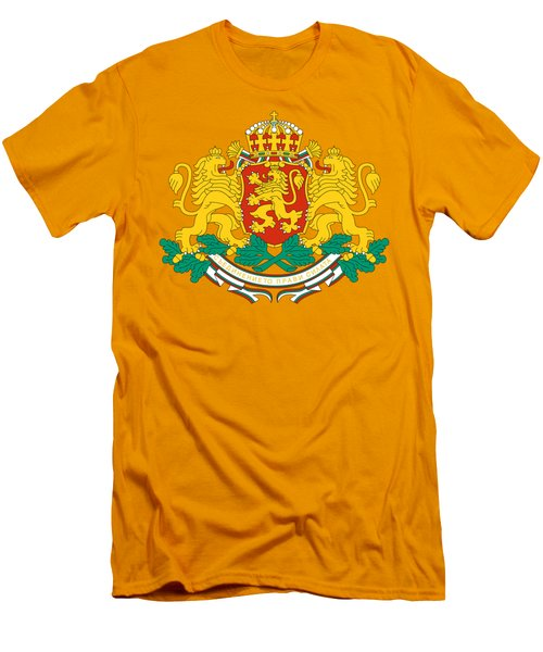 Bulgaria Coat Of Arms Men's T-Shirt (Slim Fit) by Movie Poster Prints