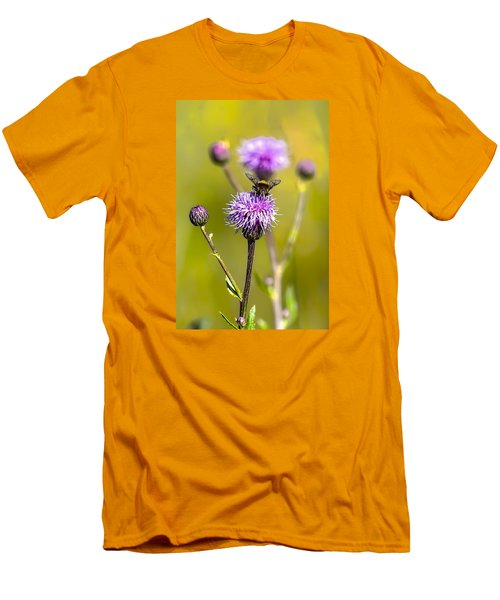 Men's T-Shirt (Slim Fit) featuring the photograph Bumblebee Aug 2015 by Leif Sohlman